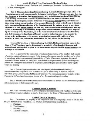 By Laws Page 2
